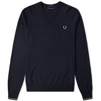 Fred Perry Fine Merino V Neck Knit Blue