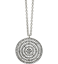 Astley Clarke 14 Carat White Gold And Diamond Concentric Circle Pendant White Gold