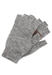Bickley Mitchell Fingerless Gloves Dark Grey Twist Mottled Dark Grey