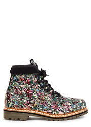 Tabitha Simmons Bexley Floral Print Leather Boots Multicoloured