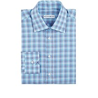 Etro Men's Plaid Dress Shirt Turquoise