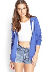 Forever 21 Everyday Heathered Hoodie Blue