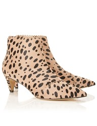 Bionda Castana Cheetah Pony Hair Luna Boots Brown
