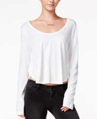 Chelsea Sky Asymmetrical Crop Top Only At Macy's Off White