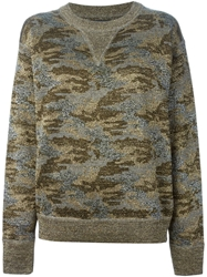 Isabel Marant Metallic Sheen Camouflage Sweatshirt