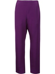 Zero Maria Cornejo Straight Trousers Pink Purple
