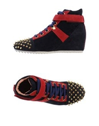 She's High Tops And Trainers Dark Blue