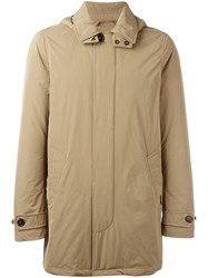 Woolrich Buttoned Hooded Coat Nude Neutrals