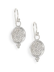 Jude Frances White Sapphire And Sterling Silver Earrings