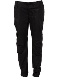 Lost And Found Coated Slim Trousers Black