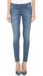 Etienne Marcel Mid Rise Skinny Jeans With Side Zip Medium