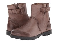 Birkenstock Stowe Dark Brown Leather Women's Zip Boots