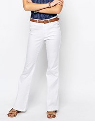 Only Royal High Waist Retro Flare Jeans White