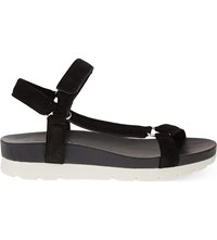 Whistles Trent Suede Sandals Black