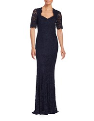 Decode 1.8 Mermaid Lace Topped Gown Navy