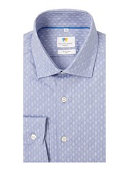 Richard James Ls Blue Tonal Tree Sc Shirt