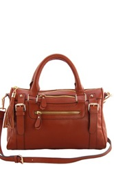 Erica Anenberg Venteux Genuine Leather Satchel Brown