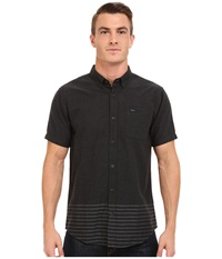 Rvca That'll Do Layers Short Sleeve Pirate Black Men's Short Sleeve Button Up