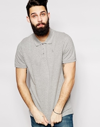 Only And Sons Pique Polo Lightgreymarl