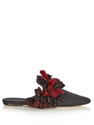 Sanayi 313 Addobbi Fringed Felt Slippers Grey Multi