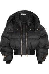 Stella Mccartney Megane Cropped Quilted Shell Jacket Black