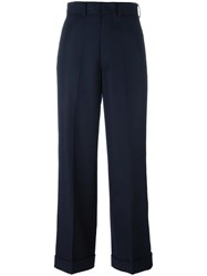 Comme Des Garcons Junya Watanabe Tailored Palazzo Pants Blue