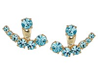 Kate Spade Dainty Sparklers Ear Jacket Aquamarine Earring Blue