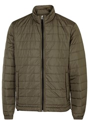 Oscar Jacobson Cowell Green Quilted Shell Jacket Khaki