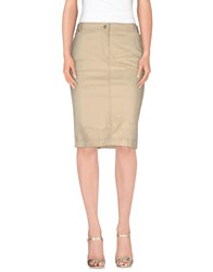 Alviero Martini 1A Classe Skirts Knee Length Skirts Women Beige