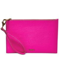 Fossil Item Leather Large Wristlet Hot Pink