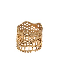 Aurelie Bidermann 18K Dipped Laser Cut Lace Ring