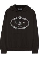 Brian Lichtenberg Party Animal Cotton Jersey Hooded Top Black