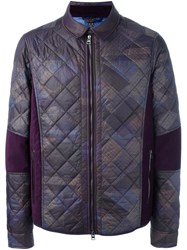 Etro Zipped Padded Jacket Pink And Purple