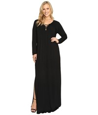 Rachel Pally Plus Size Long Sleeve Jolene Dress White Label Black Women's Dress