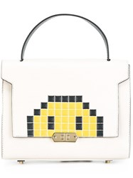 Anya Hindmarch Small 'Pixel Smiley Bathurst' Satchel Nude And Neutrals