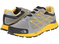 The North Face Ultra Endurance Griffin Grey Freesia Yellow Men's Running Shoes Gray