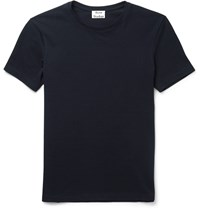 Acne Studios Eddy Slim Fit Cotton Piqua T Shirt Blue