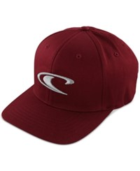 O'neill Men's Clean And Mean Snapback Hat Burgundy