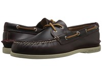 Sperry A O 2 Eye Waterloo Burgundy Men's Lace Up Moc Toe Shoes
