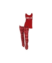 Concepts Sport College Concepts Women's Chicago Bulls Tank And Pajama Pants Set Red Black