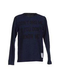 Phonz Says Black Topwear Sweatshirts Men Dark Blue