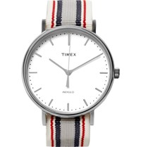 Timex Fairfiel Pavillion Stainless Steel And Webbing Watch Blue