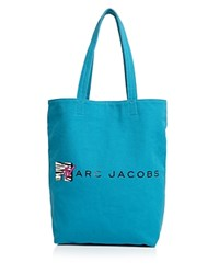 Marc Jacobs Mtv Canvas Tote Turquoise Multi