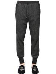 Dolce And Gabbana Side Band Stretch Wool Herringbone Pants