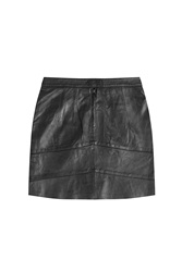 Zadig And Voltaire Leather Mini Skirt Black