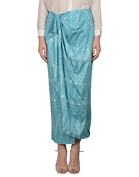 Baja East Skirts Long Skirts Women Turquoise