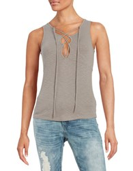 Free People Emmylou Lace Up Tank Brown