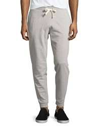 Penguin Fleece Lined Knit Drawstring Track Pants Rain Heather