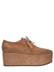 Marsell Marsell 70Mm Suede Lace Up Derby Platform Shoes