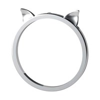 Antoanetta 14K White Gold Lucky Cat Ears Ring